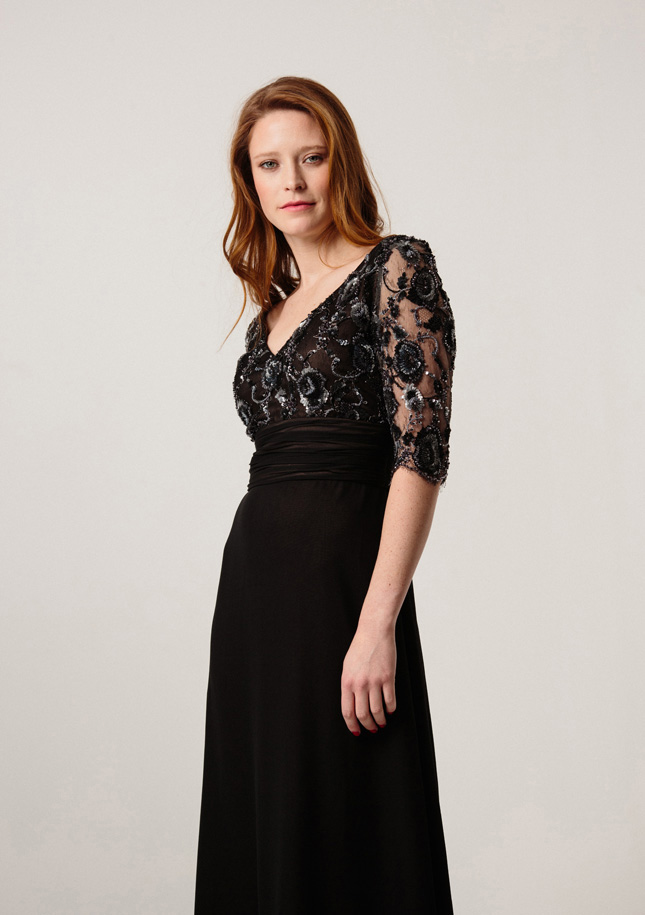 Black Lace Evening Gown 1