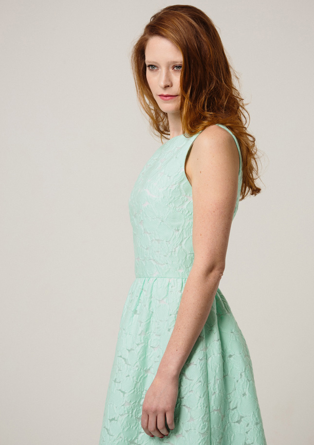 Green Broderie Dress 4