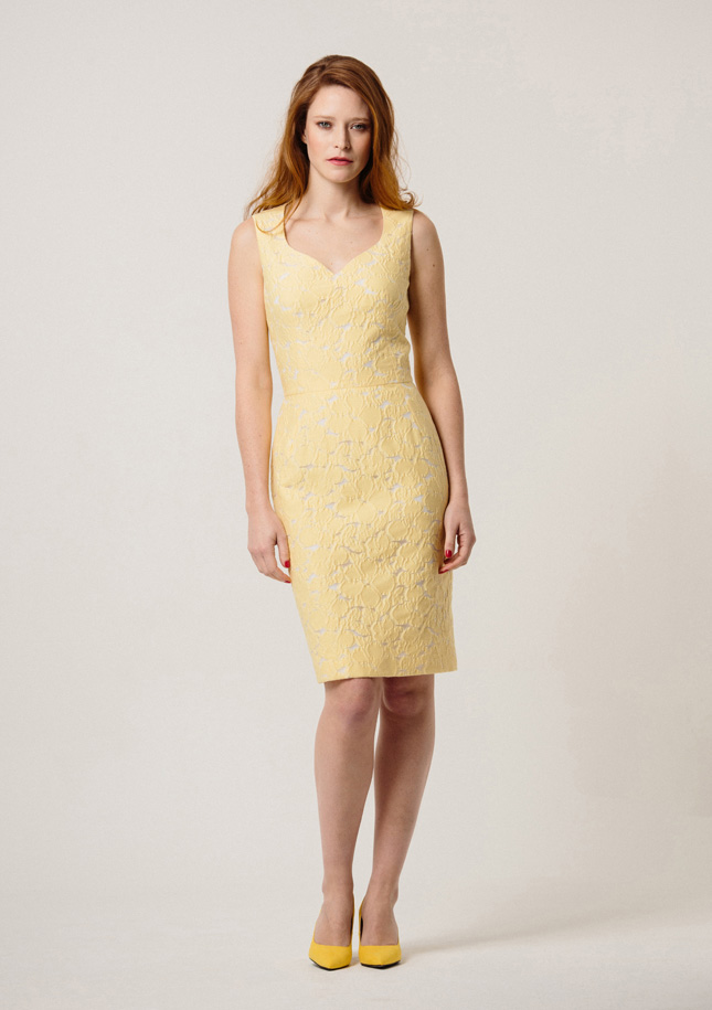 Lemon Broderie Dress
