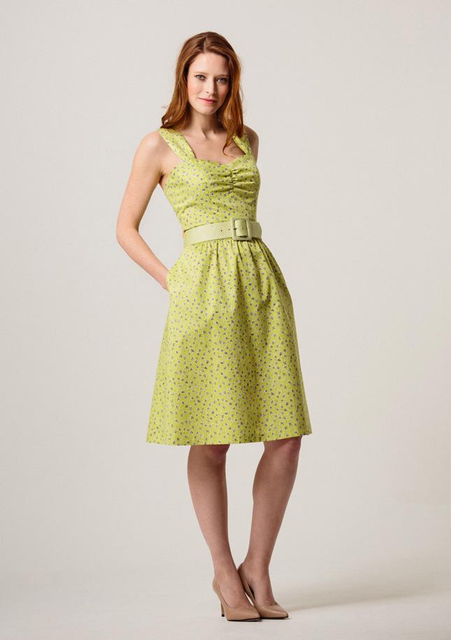Lime Ditsy Sundress