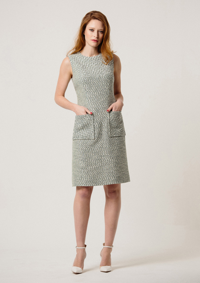 Mint Tweed Dress