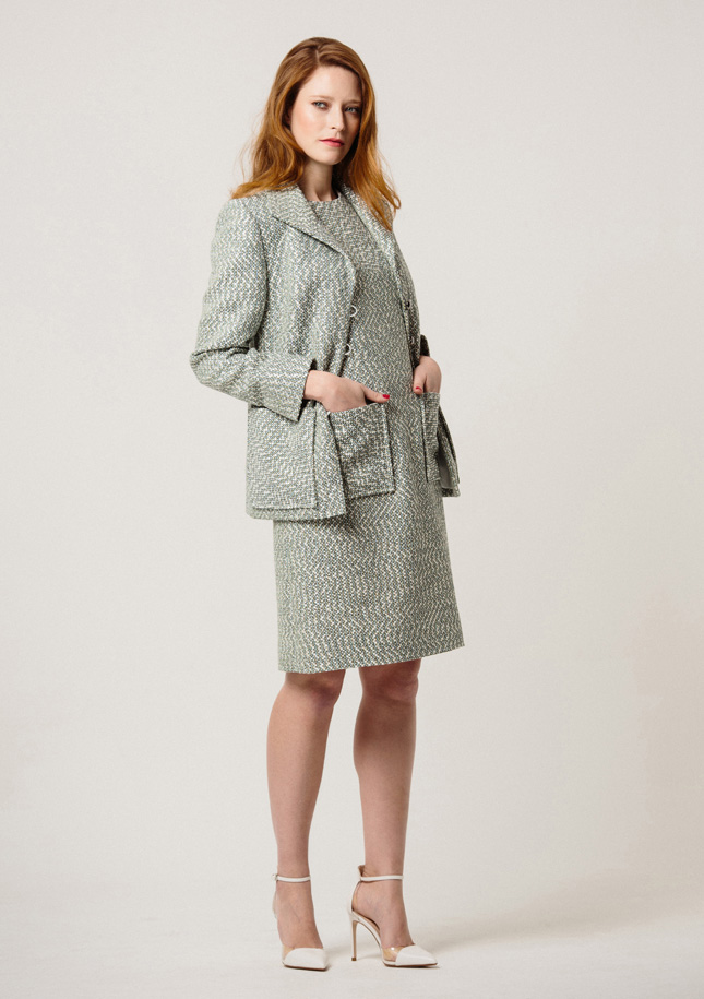 Mint Tweed Jacket