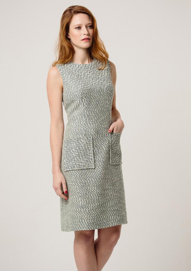 Mint tweed Dress 1
