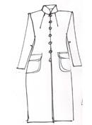 Mint Brocade Coat