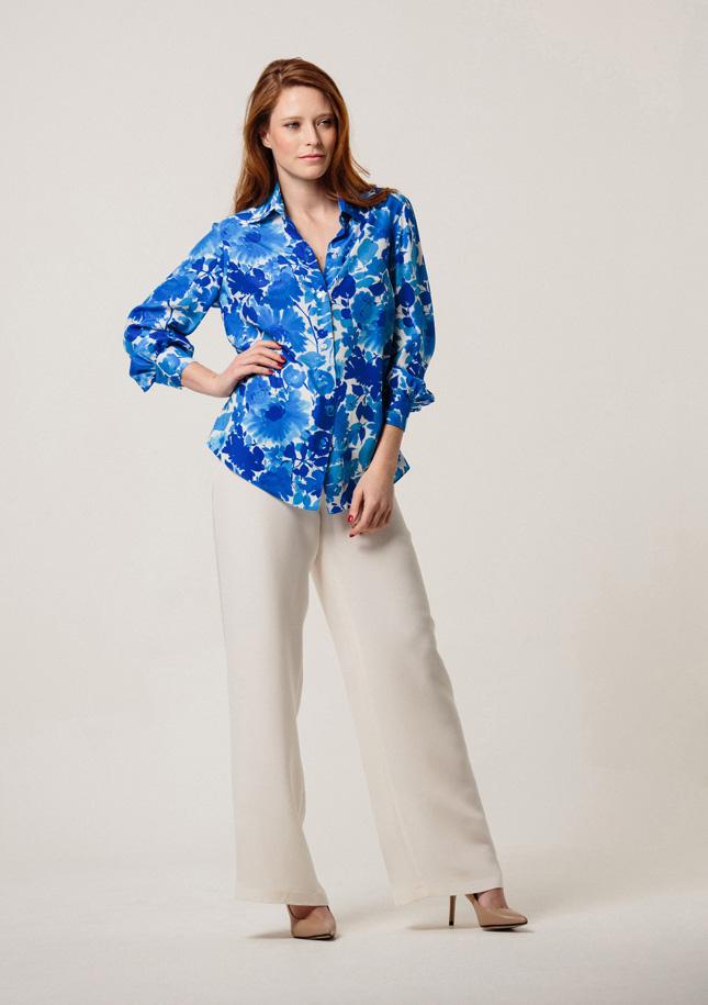 Blue Floral Shirt 1