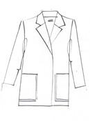 Blue Print Zibeline Jacket