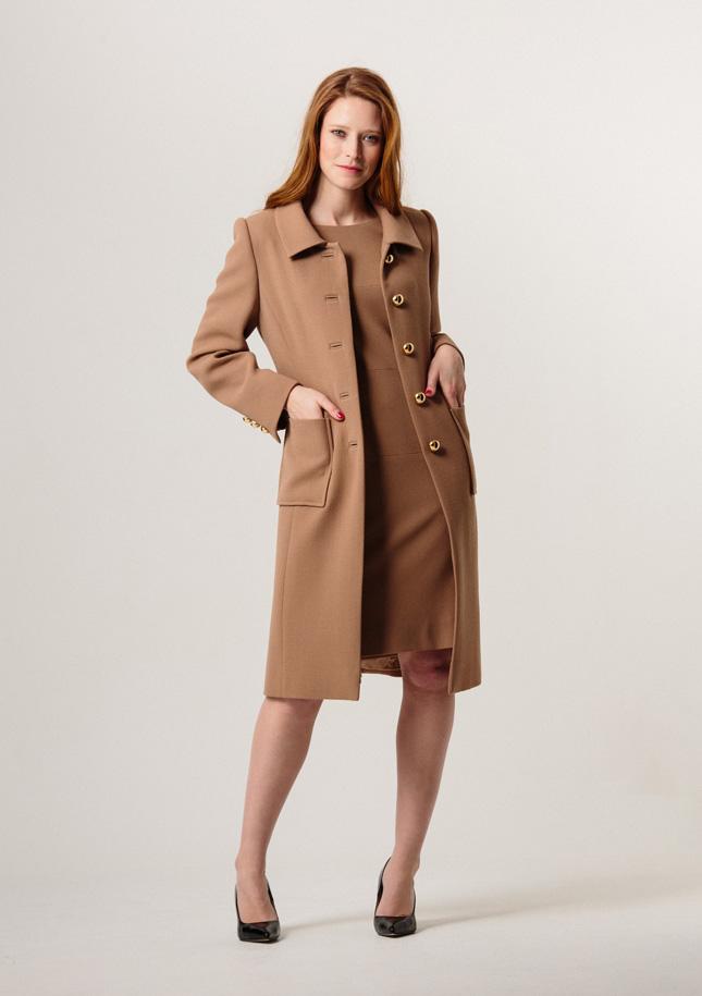 Camel Crepe Coat
