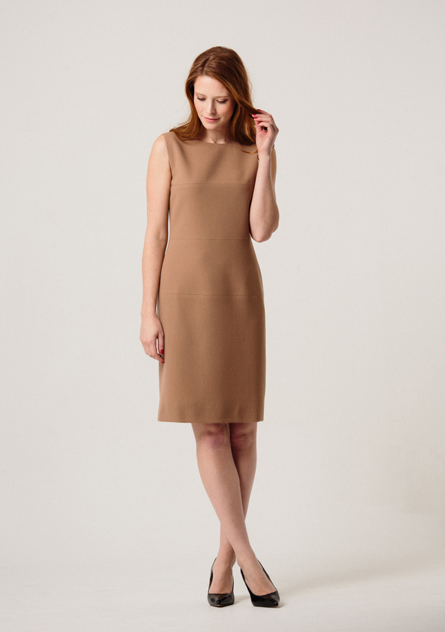 Camel Crepe Dress