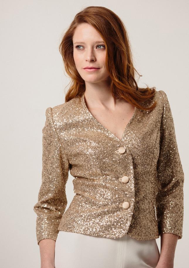 Gold Sequin Jacket 1