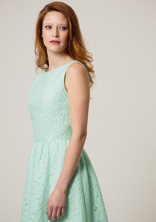 Green Broderie Dress 1