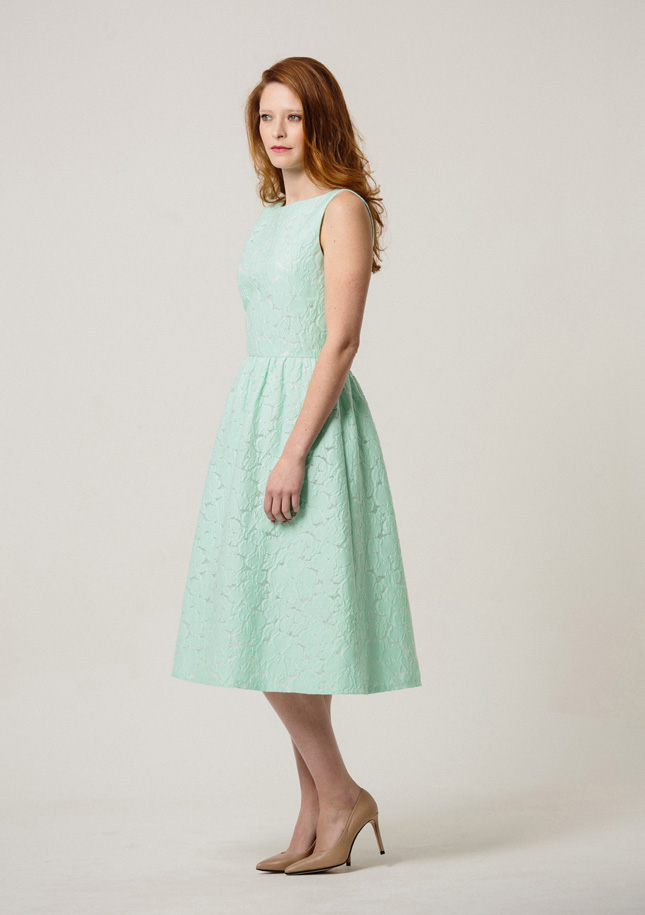Green Broderie Dress