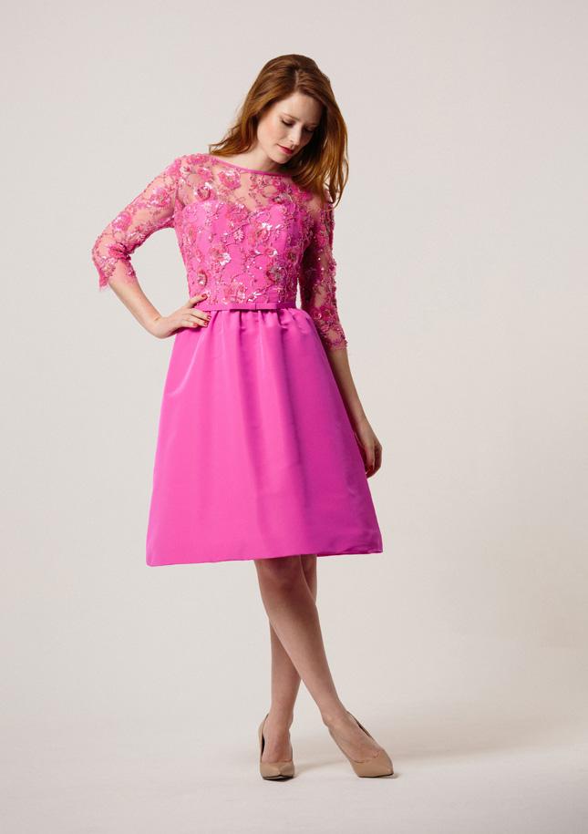 Hot Pink Cocktail Dress 1