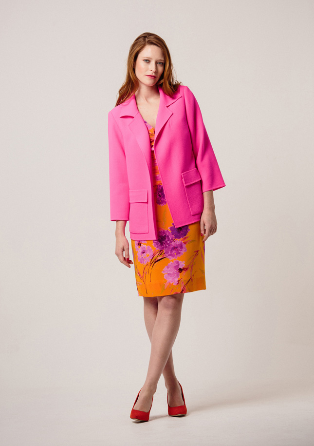 Hot Pink and Orange Silk 1