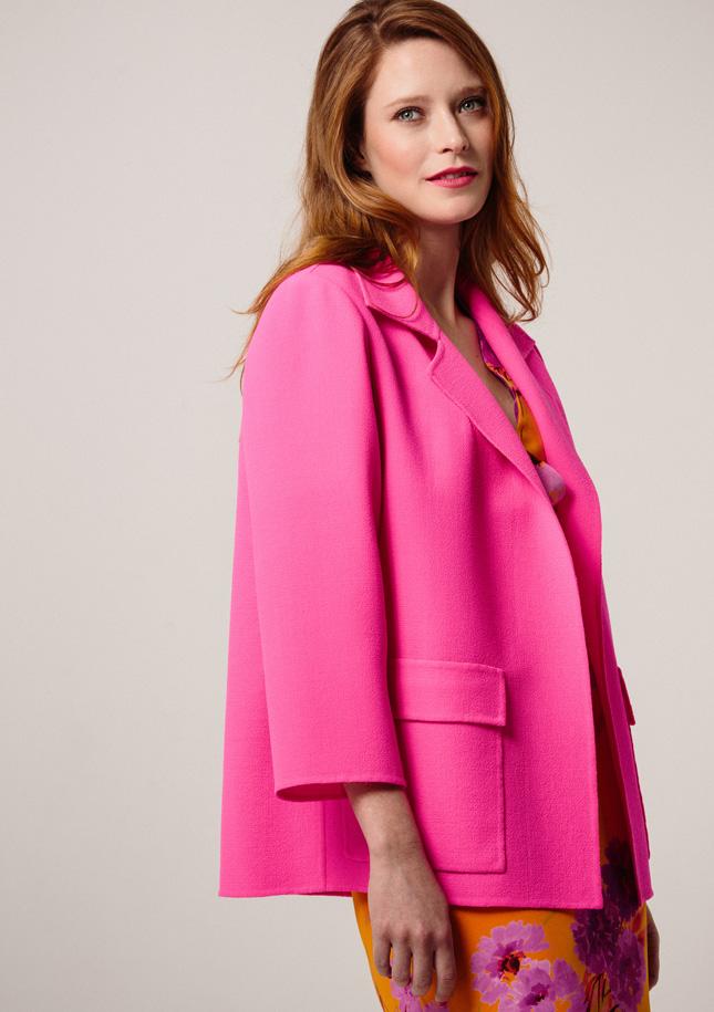 Hot Pink and Orange Silk