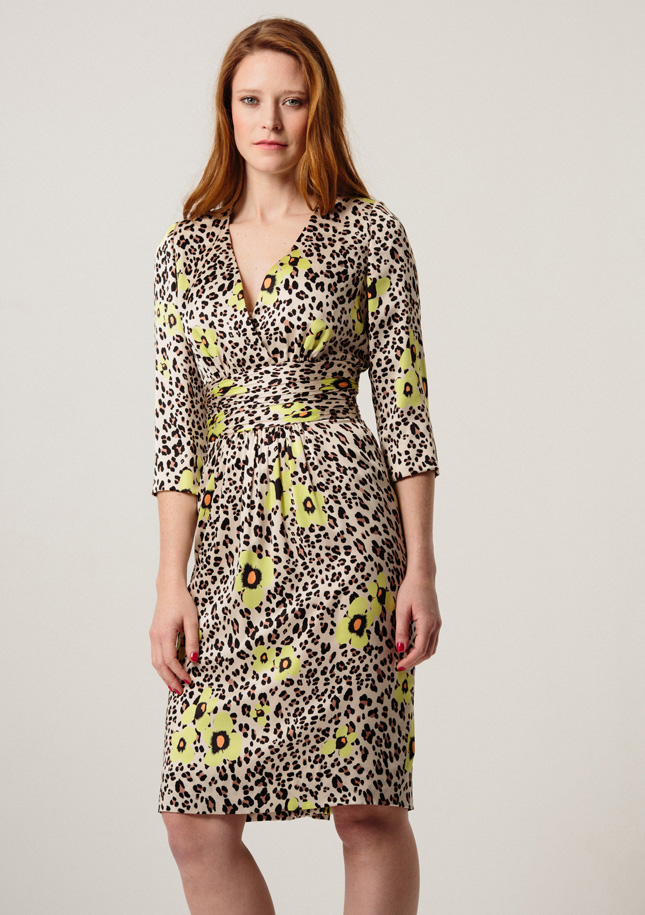 Leopard and Yellow Silk Dress 1