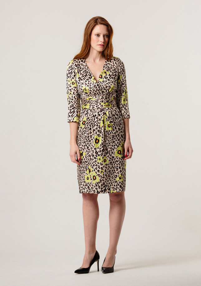 Leopard and Yellow Silk Dress