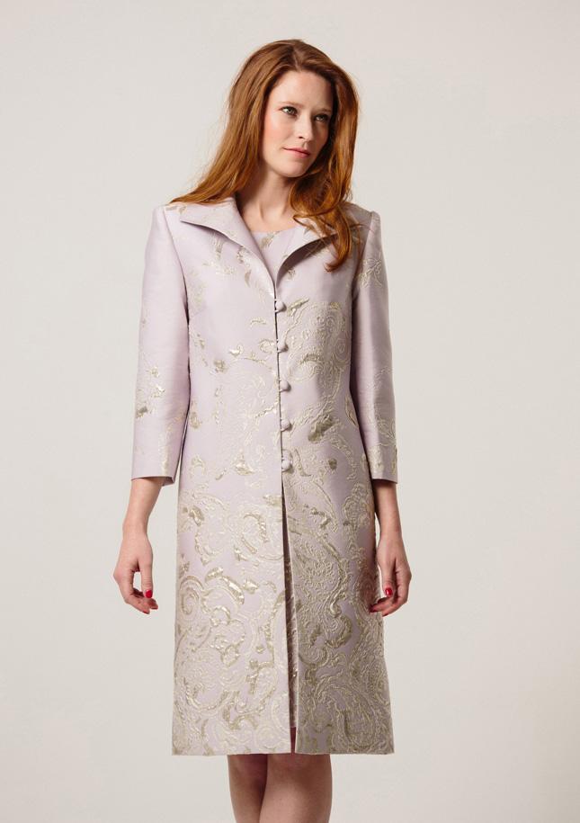 Lilac Brocade Coat 1