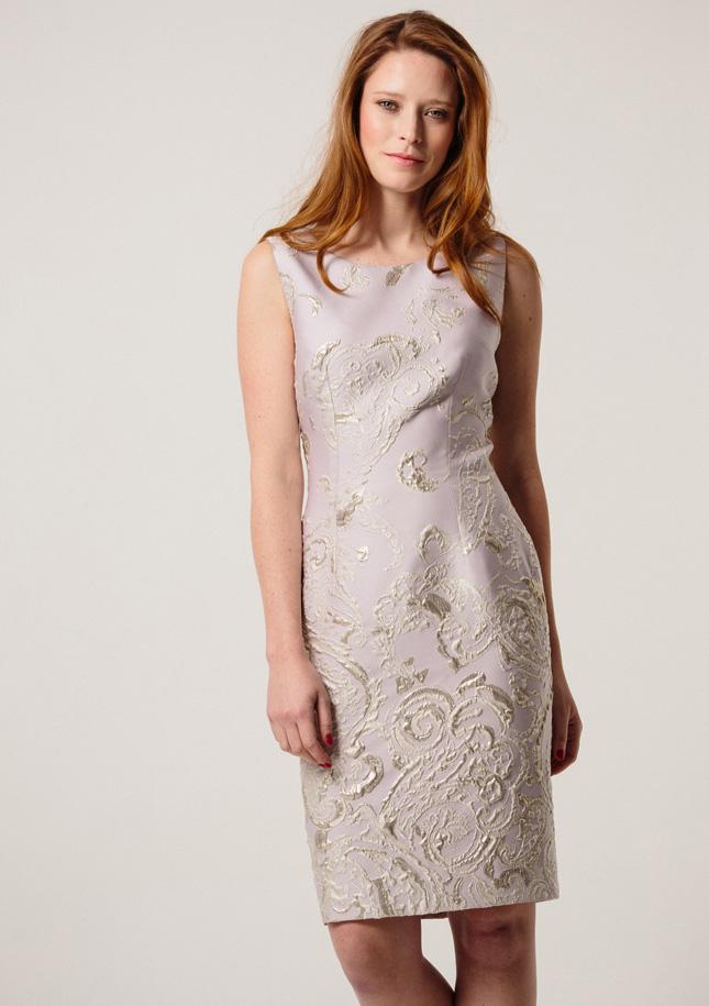 Lilac Brocade Dress 1