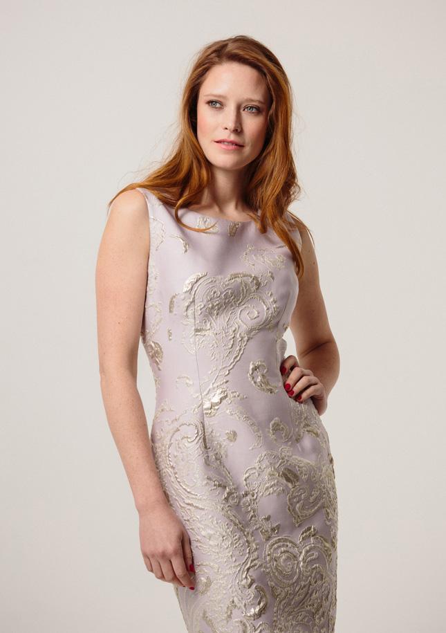Lilac Brocade Dress