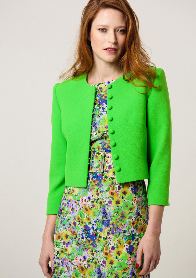 Lime Green Wool Jacket 1