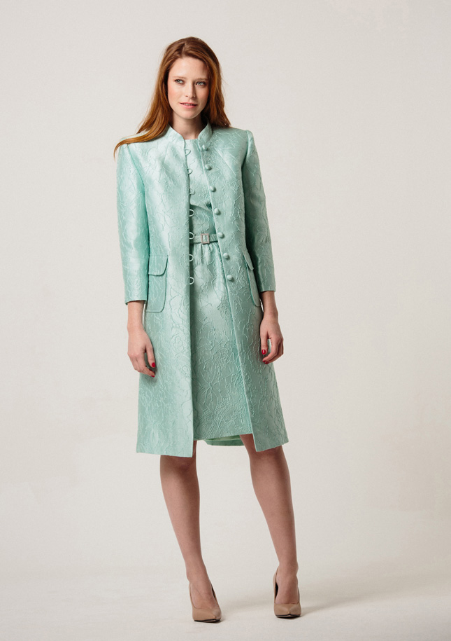 Mint Brocade Coat