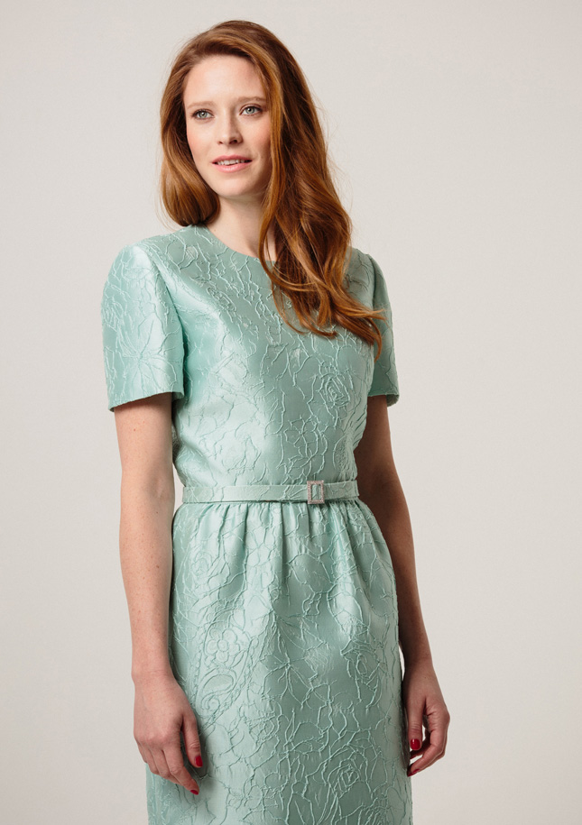 Mint Brocade Dress 1