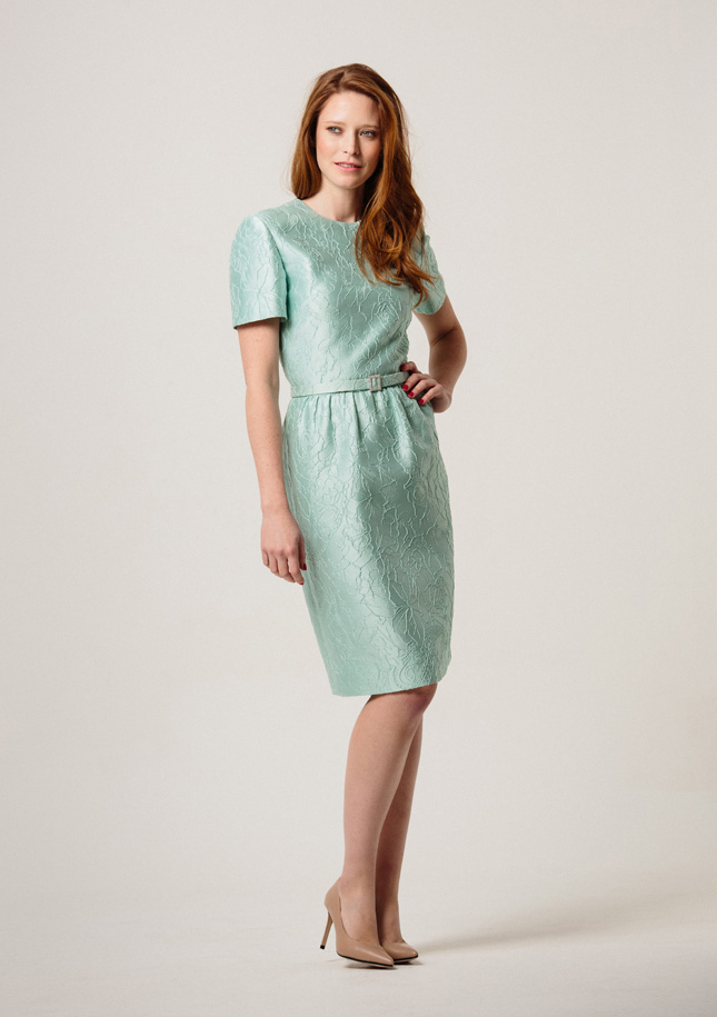 Mint Brocade Dress