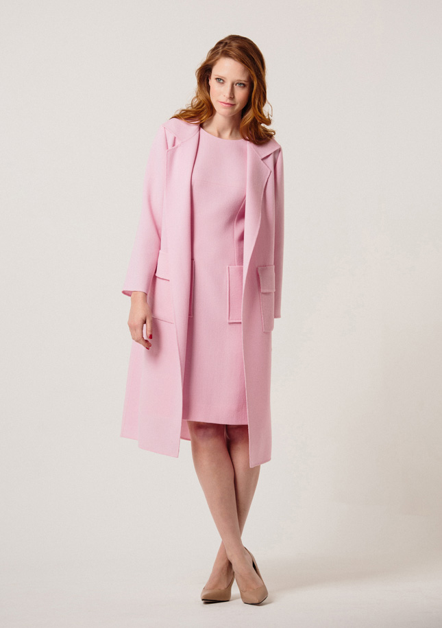 Pink Wool Dress and Jacket 1