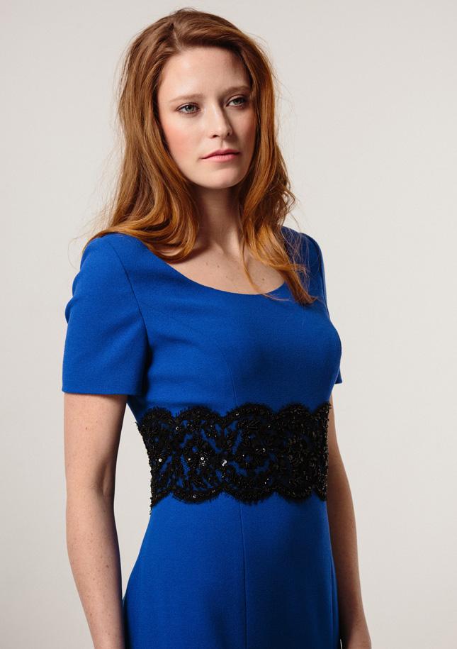 Royal Blue Crepe Dress 1