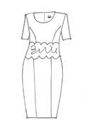 Royal Blue Crepe Dress