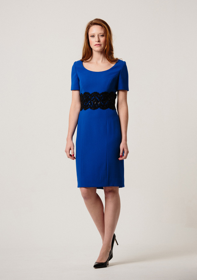 Royal Blue Crepe Dress