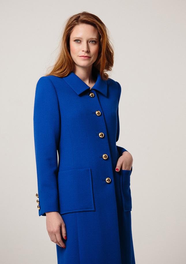Royal Blue Wool Coat 1