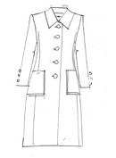 Royal Blue Wool Crepe Coat