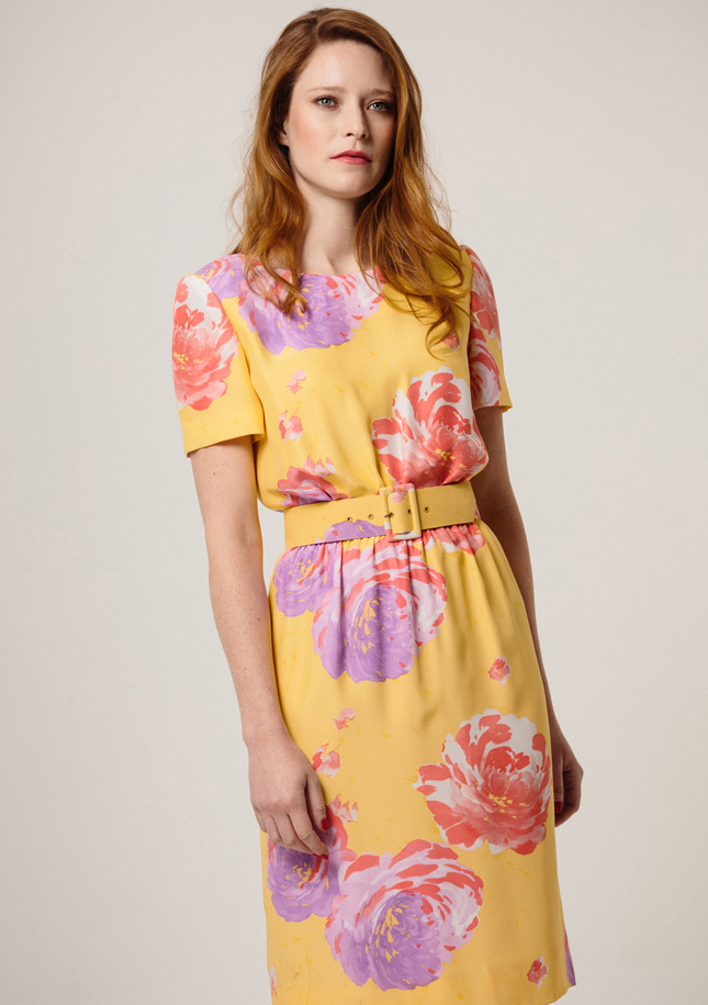 Yellow Large Floral Dress 1