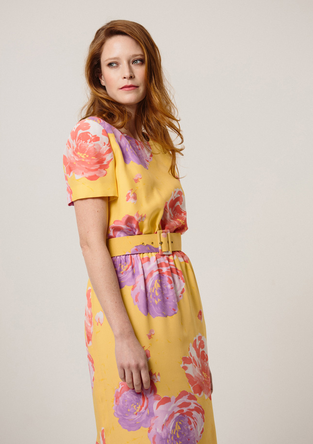 Yellow Large Floral Dress