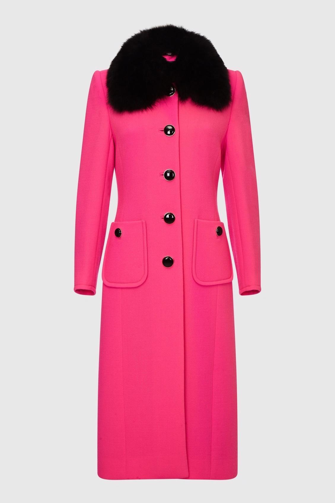 Pink wool Coat_F