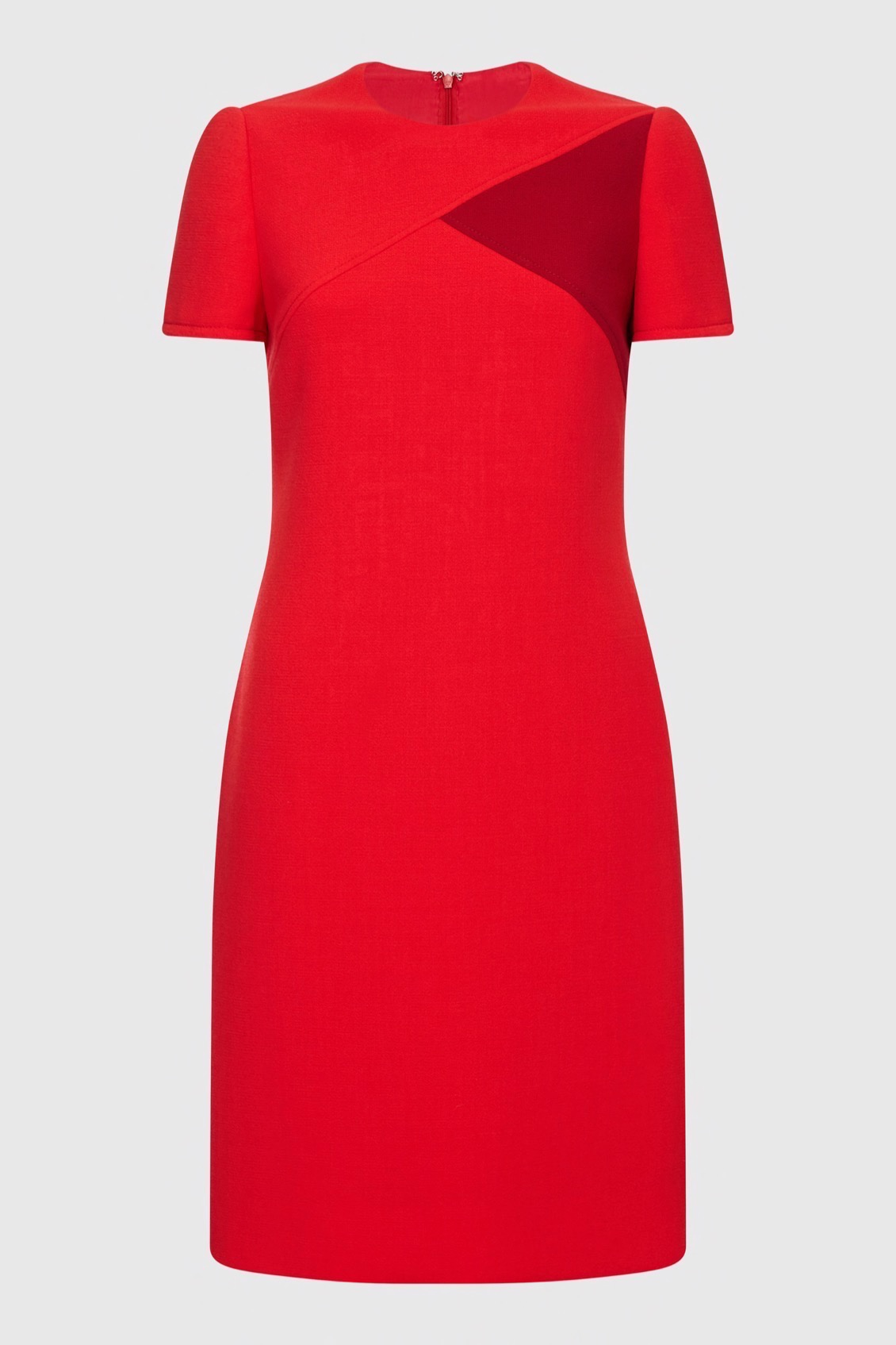 Red S_s crepe dress_F