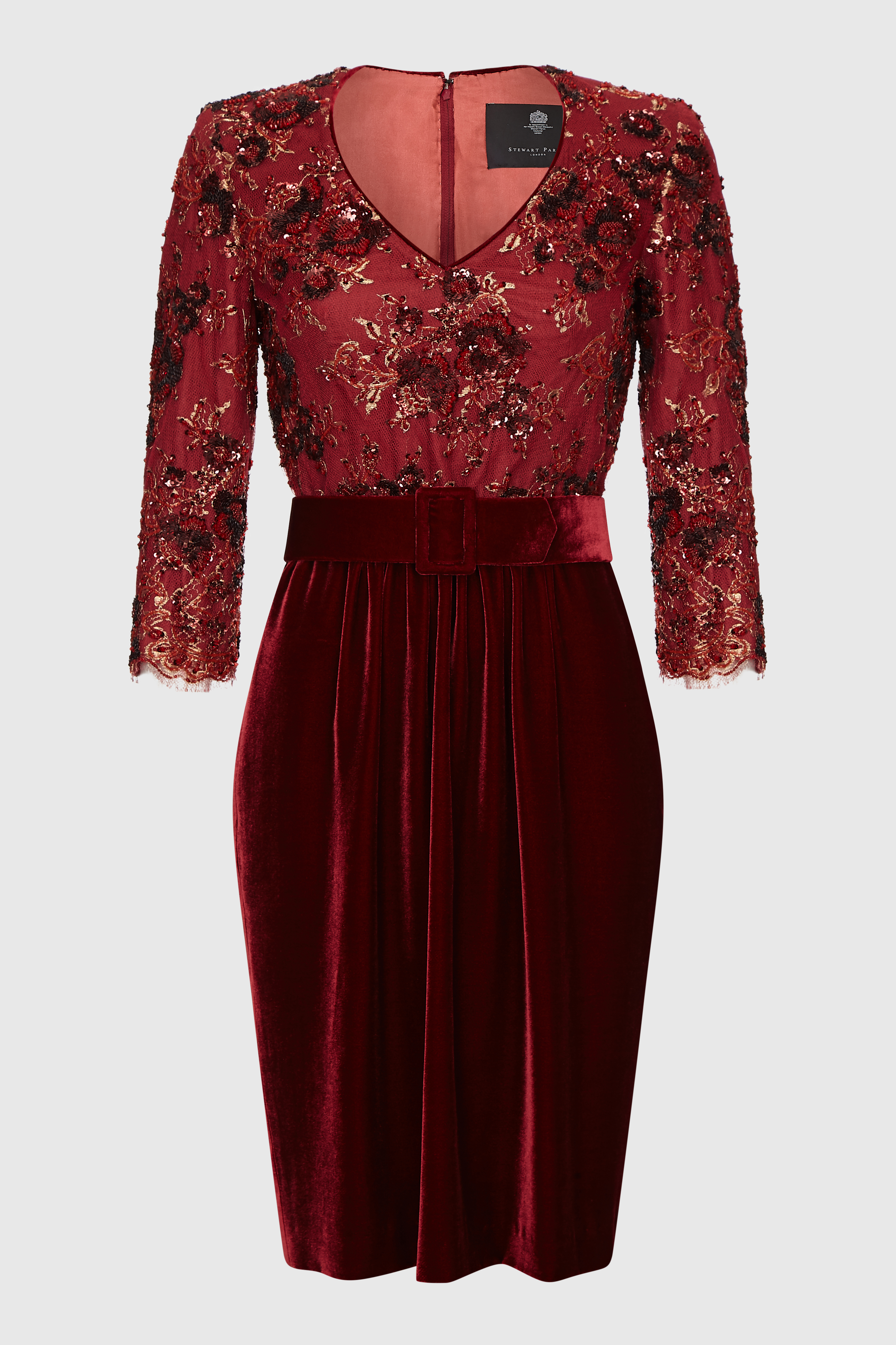 Red Velvet Cocktail Dress_F (1)